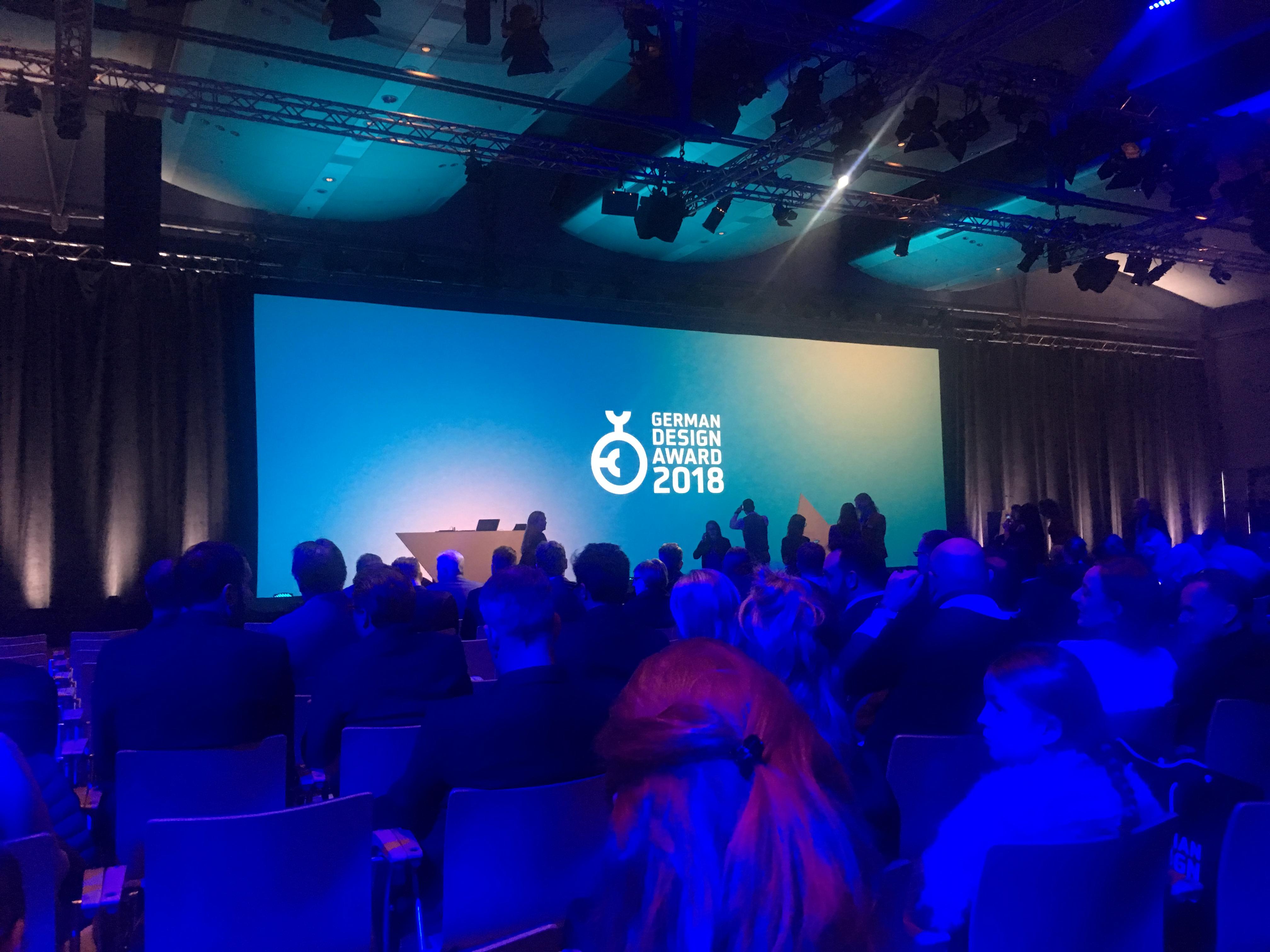 Die offizielle Preisverleihung des German Design Awards in Frankfurt