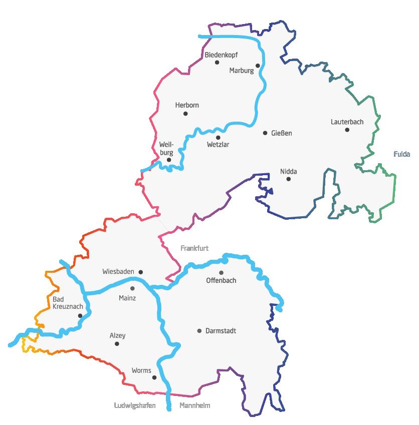 VRM Vermarktung: Das Verbreitungsgebiet der VRM