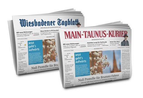 Blattstruktur VRM: Zusammenlegung von Ausgaben des Wiesbadener Kurier/ Wiesbadener Tagblatt